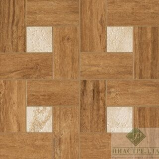 Керамогранит NL Wood HONEY Вставка GLAMOUR 45*45